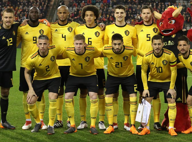 The Belgian national football squad