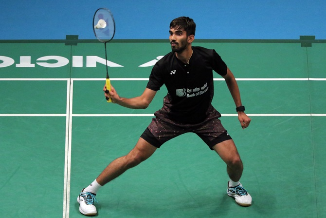 India's Kidambi Srikanth in action during the Celcom Axiata Badminton Malaysia Open 2018
