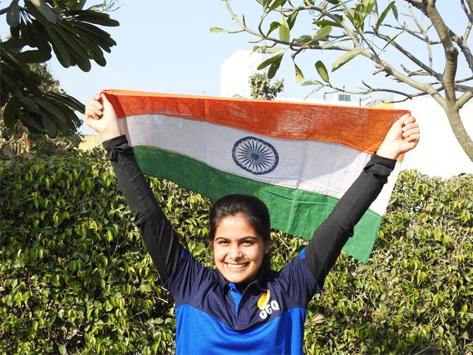 16-year-old Manu Bhaker has won a place at the 2018 Youth Olympics