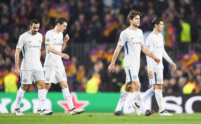 Rediff Sports - Cricket, Indian hockey, Tennis, Football, Chess, Golf - Conte says Chelsea loss to Barca was 'unfair'