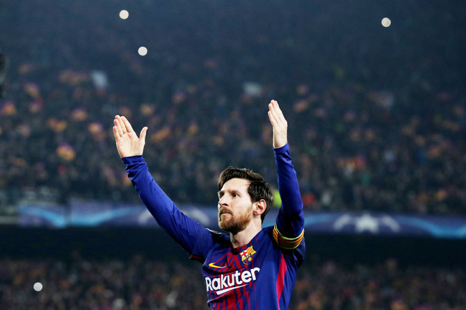 Rediff Sports - Cricket, Indian hockey, Tennis, Football, Chess, Golf - Champions League PIX: Barcelona crush Chelsea; Bayern in quarters