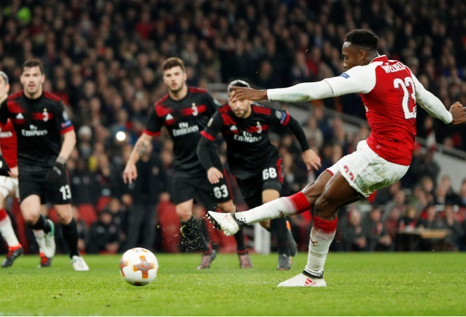 Rediff Sports - Cricket, Indian hockey, Tennis, Football, Chess, Golf - Europa League: Wenger praises Arsenal resilience as they reach quarters