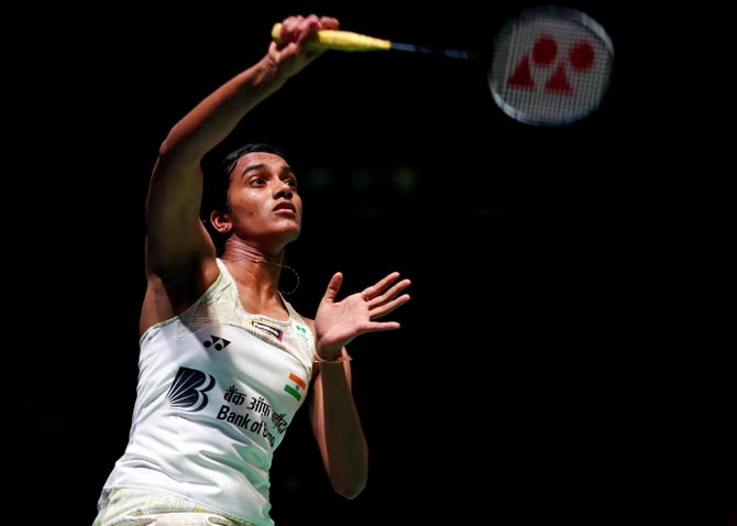 Rediff Sports - Cricket, Indian hockey, Tennis, Football, Chess, Golf - Sindhu enters All England semis after thrilling win over Okuhara