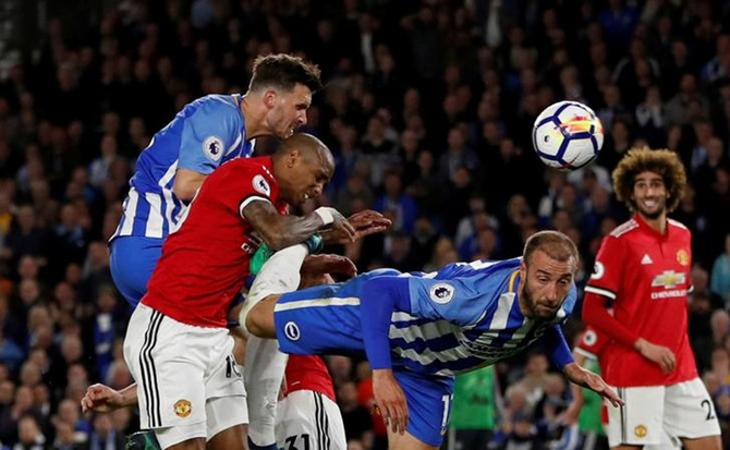 Brighton stun Manchester United, ensure survival