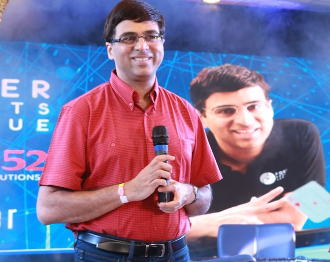 Rediff Sports - Cricket, Indian hockey, Tennis, Football, Chess, Golf - Vishy Anand on why he likes poker