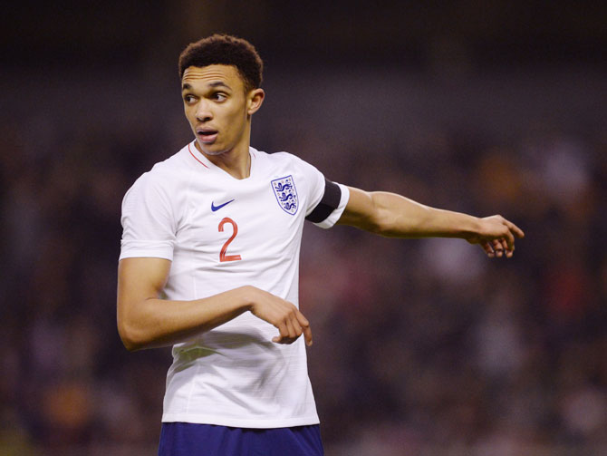 989c12f961a Alexander-Arnold named in England World Cup squad - Rediff Sports