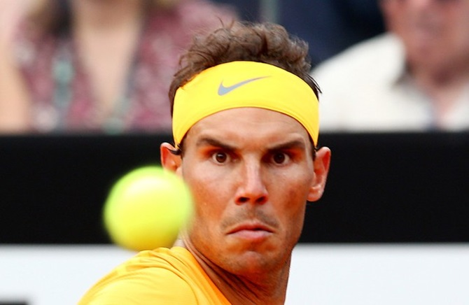 Rediff Sports - Cricket, Indian hockey, Tennis, Football, Chess, Golf - How to halt Nadal at French Open...