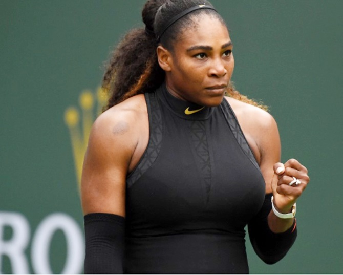 Rediff Sports - Cricket, Indian hockey, Tennis, Football, Chess, Golf - Returning Serena Williams ready to deny Paris convention