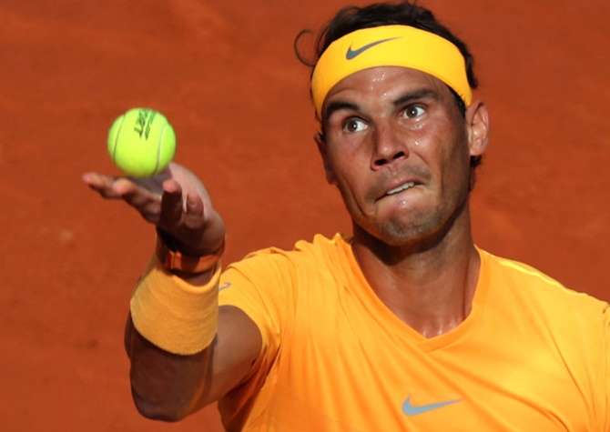 Rediff Sports - Cricket, Indian hockey, Tennis, Football, Chess, Golf - Can anyone challenge Rafael Nadal on clay?