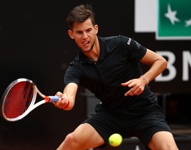 Rediff Sports - Cricket, Indian hockey, Tennis, Football, Chess, Golf - Thiem gears up for Roland Garros with Lyon title