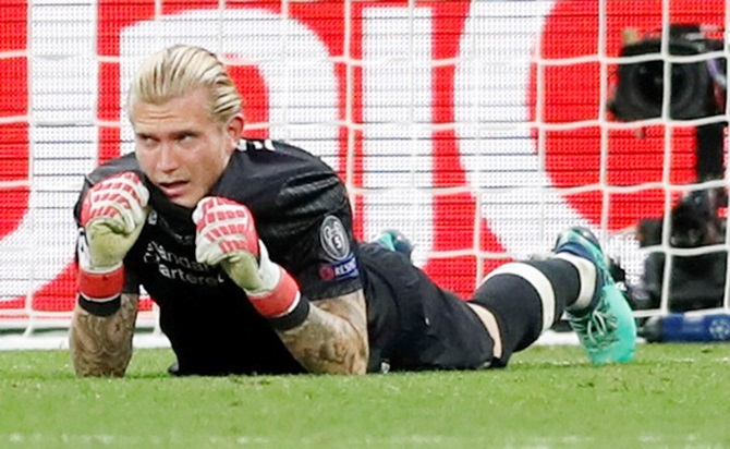Rediff Sports - Cricket, Indian hockey, Tennis, Football, Chess, Golf - Karius takes blame after nightmare night in Kiev