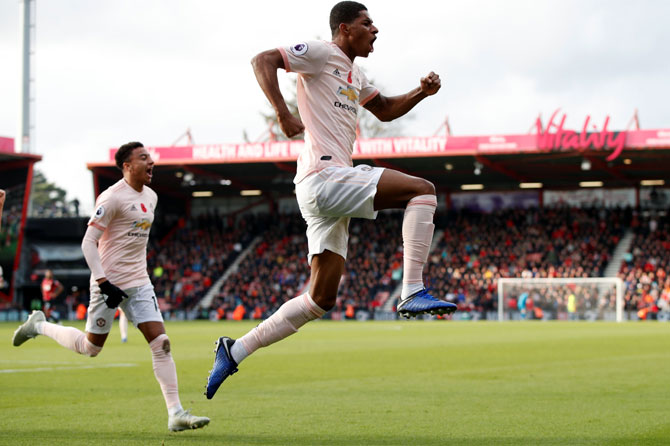 EPL: Rashford's late strike earns United win at Bournemouth