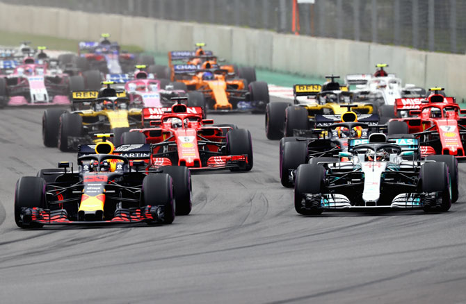 Rediff Sports - Cricket, Indian hockey, Tennis, Football, Chess, Golf - Vietnam to host F1 race in Hanoi from 2020