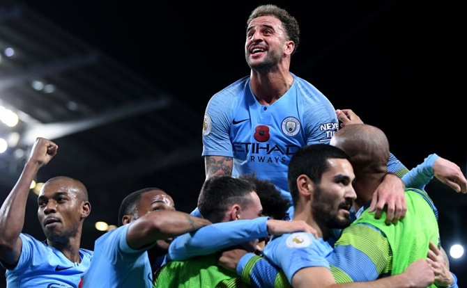 EPL PIX: City win Manchester derby; Everton hold Chelsea