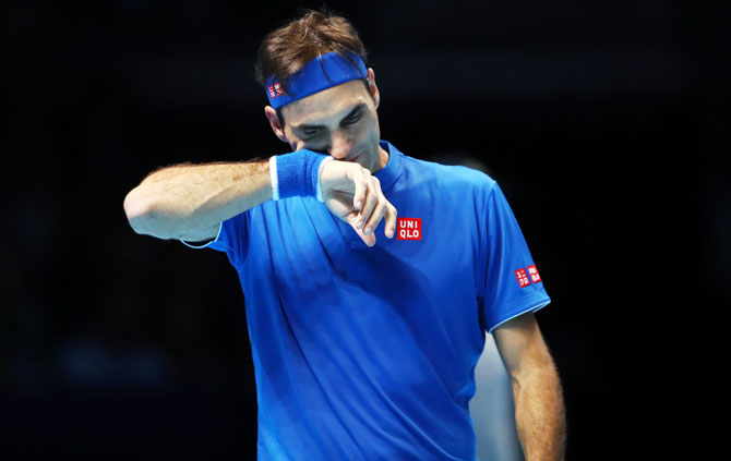 Rediff Sports - Cricket, Indian hockey, Tennis, Football, Chess, Golf - ATP Finals: Error-prone Federer loses opener, Anderson off to flyer