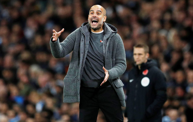 Guardiola unimpressed by City's first half showing in derby