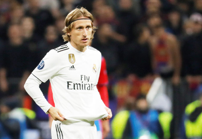 Luka Modric came on in the second half for Casemiro, but the 33-year-old Croatia midfielder could not turn the match in Real's favour.