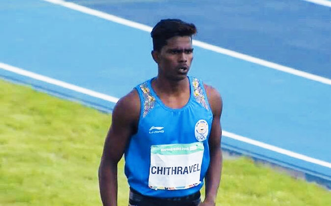 Praveen Chitravel, a farm labourer's son, won gold at the inaugural Khelo India School Games