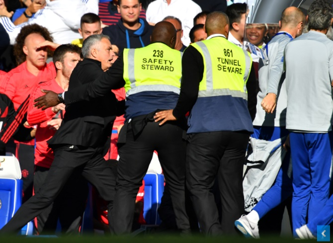 Mourinho back in spotlight after Stamford Bridge melee