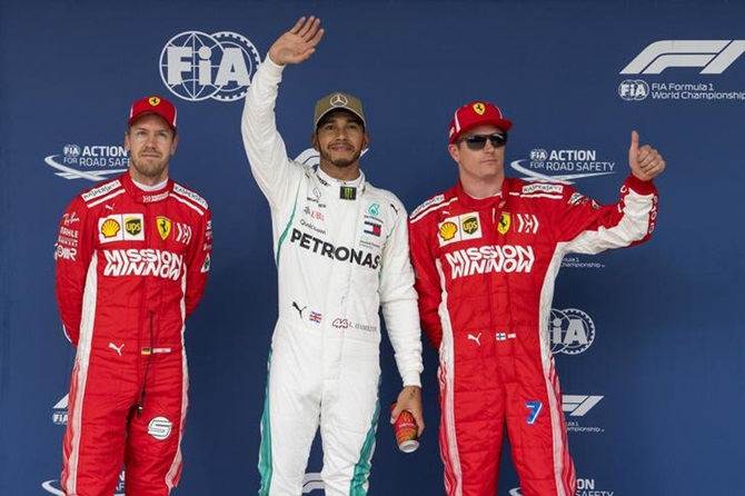 Rediff Sports - Cricket, Indian hockey, Tennis, Football, Chess, Golf - Hamilton on US GP pole with fifth F1 title in sight