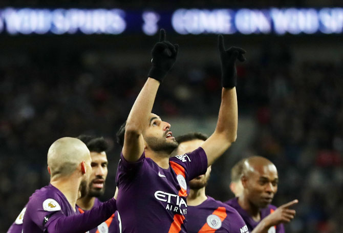 EPL PHOTOS: Emotional Mahrez seals points for Man City at Tottenham