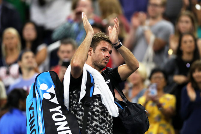 Rediff Sports - Cricket, Indian hockey, Tennis, Football, Chess, Golf - US Open: What went wrong for ousted Wawrinka