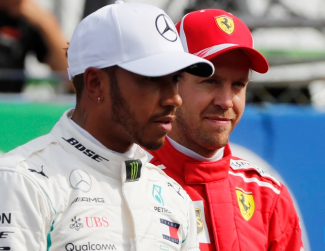 Rediff Sports - Cricket, Indian hockey, Tennis, Football, Chess, Golf - I'm my own worst enemy in title race, says Vettel
