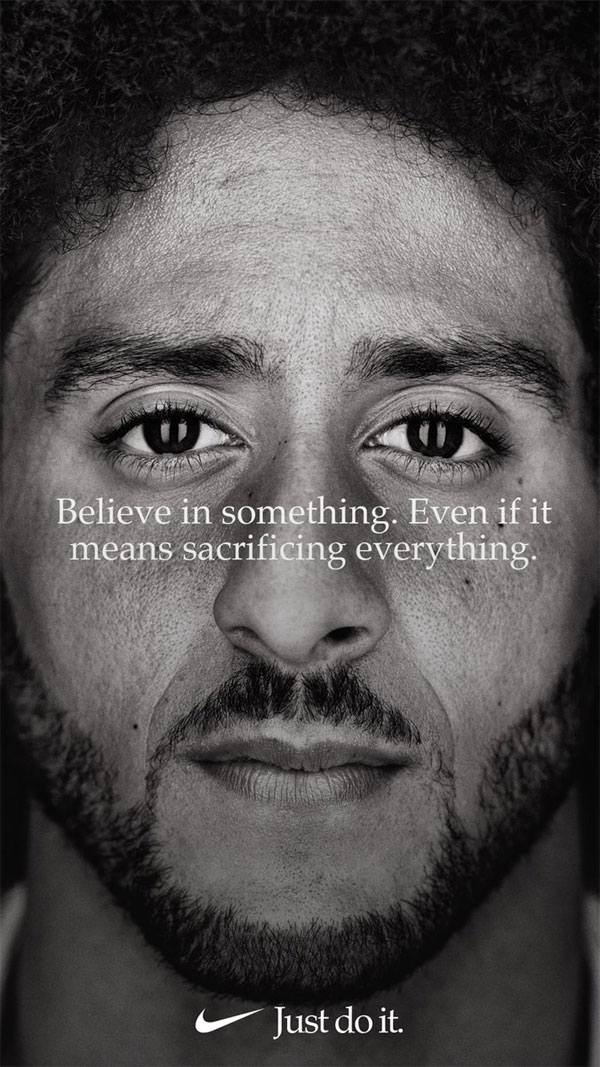The Nike ad featuring Colin Kaepernick