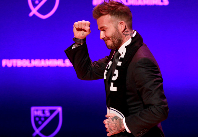 Rediff Sports - Cricket, Indian hockey, Tennis, Football, Chess, Golf - Beckham's MLS franchise to be called Inter Miami
