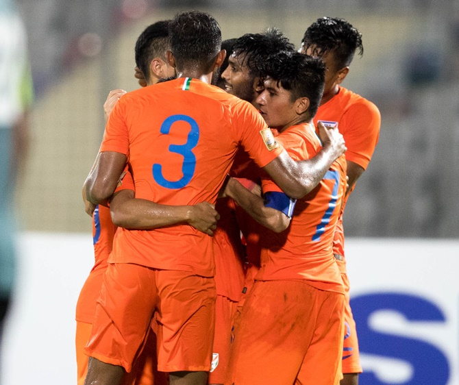 Rediff Sports - Cricket, Indian hockey, Tennis, Football, Chess, Golf - SAFF Cup: India beat Maldives, to face Pakistan in semis