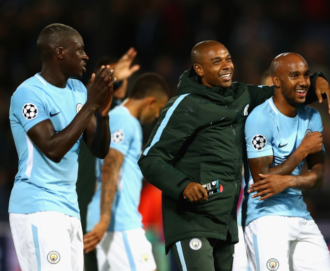 Benjamin Mendy and Fabian Delph