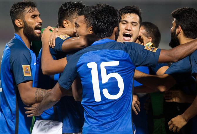 Rediff Sports - Cricket, Indian hockey, Tennis, Football, Chess, Golf - India seek 8th SAFF Cup title