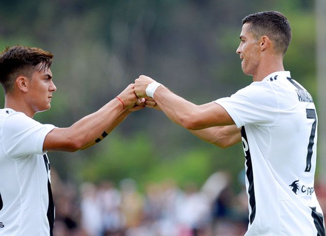 Rediff Sports - Cricket, Indian hockey, Tennis, Football, Chess, Golf - Serie A: Ronaldo struggles for goals, Dybala for playing time
