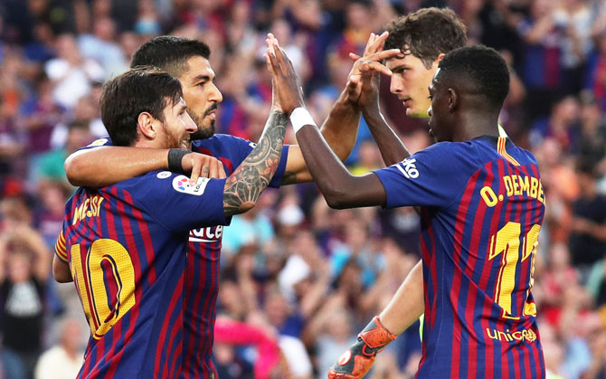 Rediff Sports - Cricket, Indian hockey, Tennis, Football, Chess, Golf - Barca, Real's perfect records at risk in difficult Basque trips