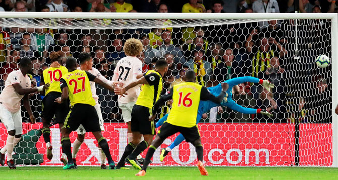 EPL: Manchester United hit Watford with devastating one-two