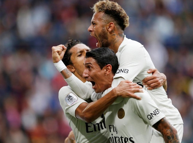 Rediff Sports - Cricket, Indian hockey, Tennis, Football, Chess, Golf - Football Briefs: PSG fight back to maintain perfect start with win at Rennes