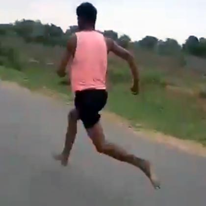 WATCH: The Indian who runs 100m in 11 seconds