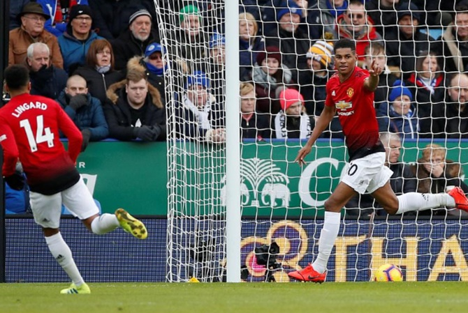 EPL: Manchester United beat Leicester on Rashford's day