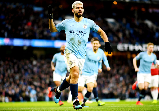 PHOTOS: Aguero 'tricks' City to victory over Arsenal