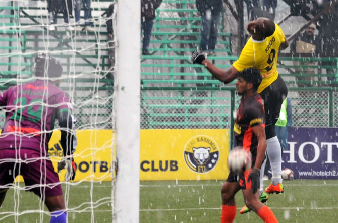 PIX: Real Kashmir sizzle in the snow to go top of I-League