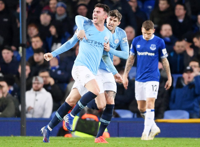 Rediff Sports - Cricket, Indian hockey, Tennis, Football, Chess, Golf - EPL PIX: Man City go top with win at Everton