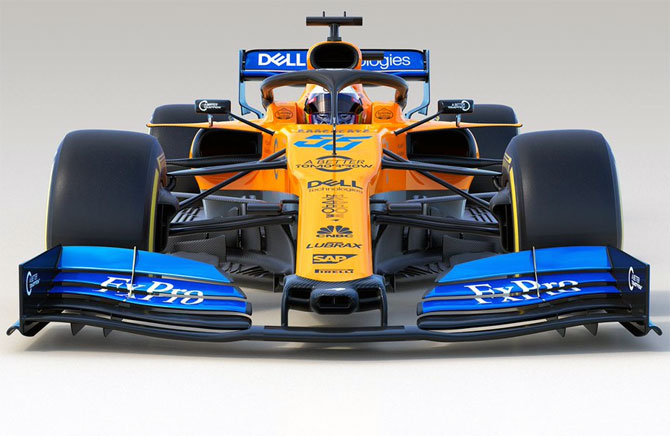 Love at first sight! McLaren show off new F1 car