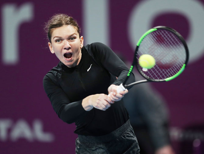 Rediff Sports - Cricket, Indian hockey, Tennis, Football, Chess, Golf - Tennis round-up: Halep to meet Svitolina in Doha semis