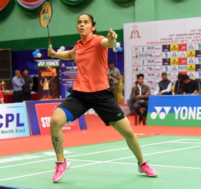 Saina outclasses Sindhu to retain Nationals crown