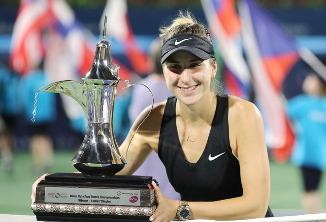Tennis Round-up: Unseeded Bencic upsets Kvitova to win Dubai title