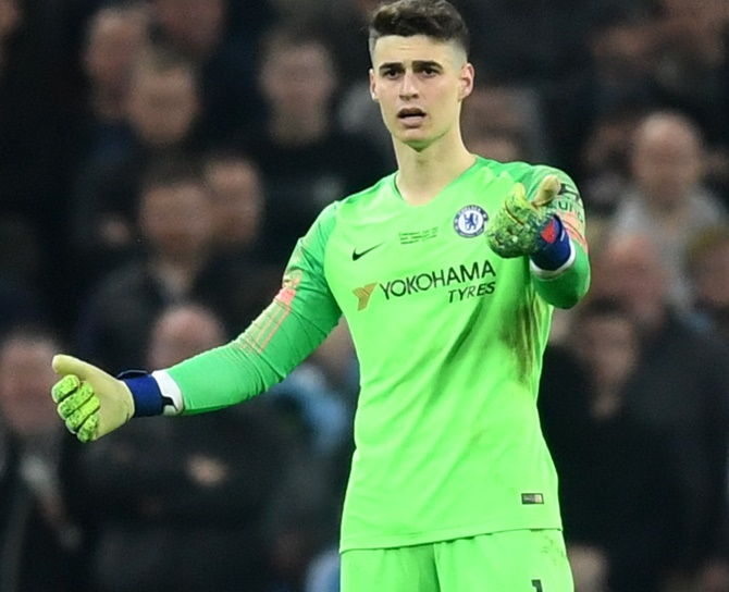 FA Cup final: Crazy scenes as Chelsea keeper refuses to be replaced
