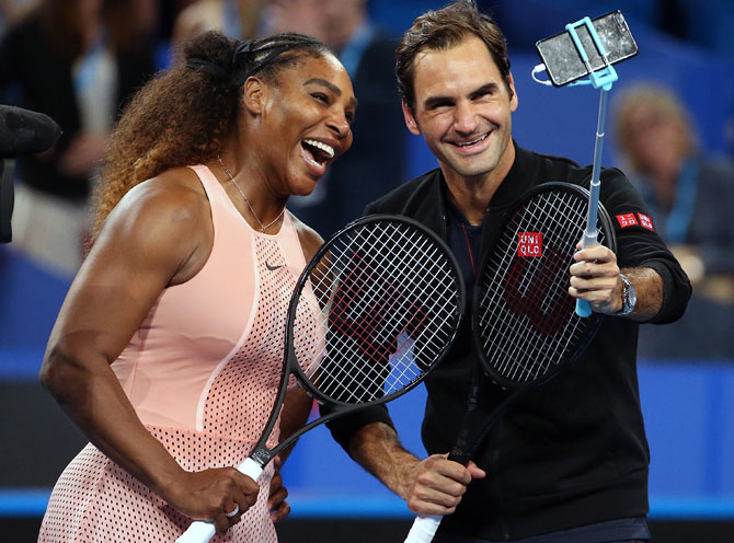 Rediff Sports - Cricket, Indian hockey, Tennis, Football, Chess, Golf - Federer beats Serena in Hopman Cup