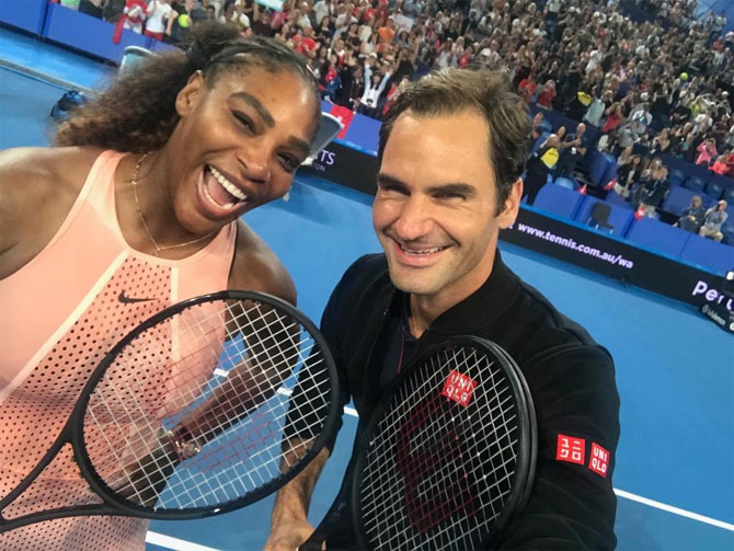 Rediff Sports - Cricket, Indian hockey, Tennis, Football, Chess, Golf - 'Oh what a night'! What Serena, Federer said after dream clash