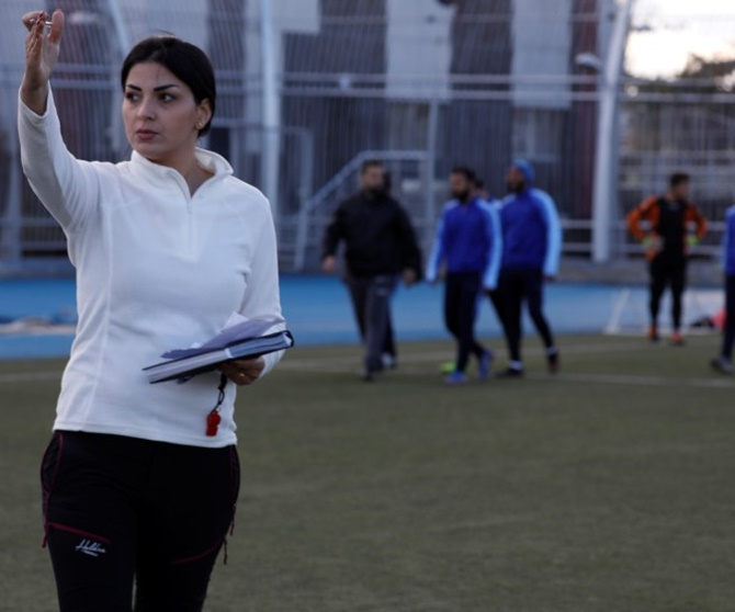 Rediff Sports - Cricket, Indian hockey, Tennis, Football, Chess, Golf - Woman coach scores wins for Syrian men's team