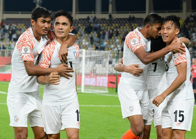 Rediff Sports - Cricket, Indian hockey, Tennis, Football, Chess, Golf - AFC Asian Cup: Upbeat India face UAE test